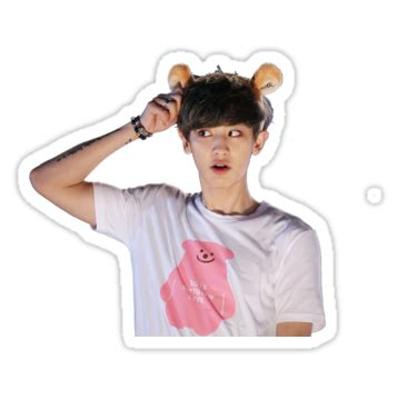 Exo Sehun 94s Sticker By Exo quot chanyeol park chanyeol of exo w headband quot stickers by