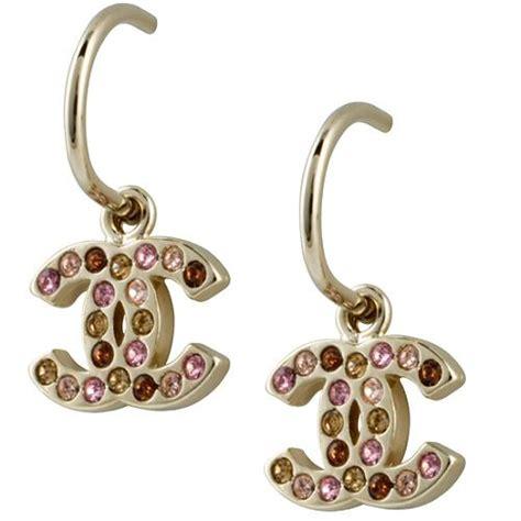 chanel multi signature earrings