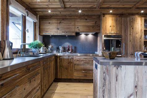 cucine acciaio e legno cucina di montagna tra legno ed acciaio fyhwl