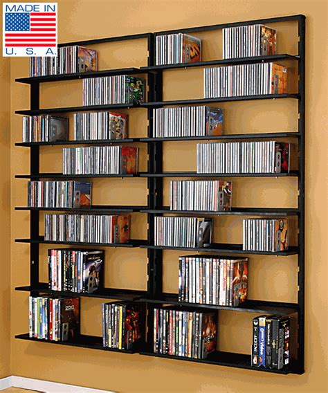 wall dvd shelf dvd shelves avm omni wall mount double cd dvd rack