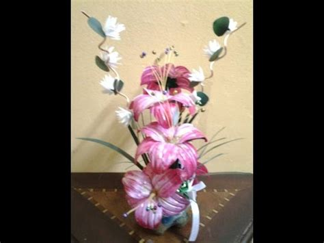 How To Make Showpiece With Paper - best out of waste plastic contemporary flower showpiece
