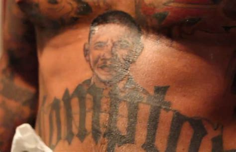 obama tattoo rapper the gets president barack obama s