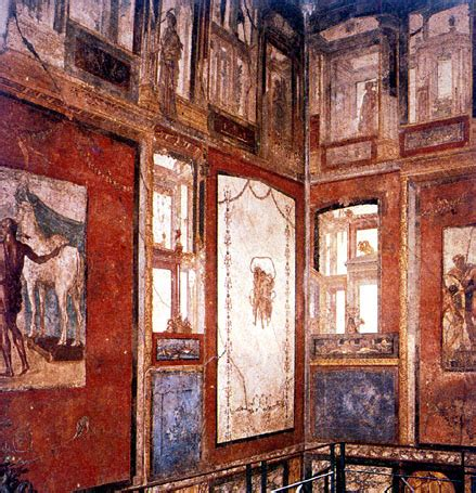 pompeii house of the vettii wall painting khan academy ch 7 roman art flashcards by proprofs