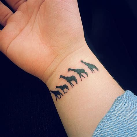 small giraffe tattoo 50 giraffe meaning and designs