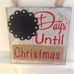 Wooden days until christmas countdown