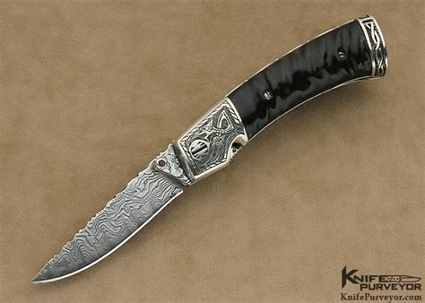 engraved knife bill mchenry engraved linerlock knifepurveyor