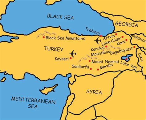 middle east map turkey eastern turkey map middle east map