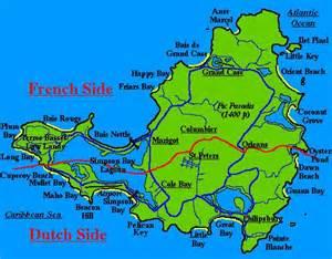 map of st and st st maarten st martin map caribbean bermuda maps