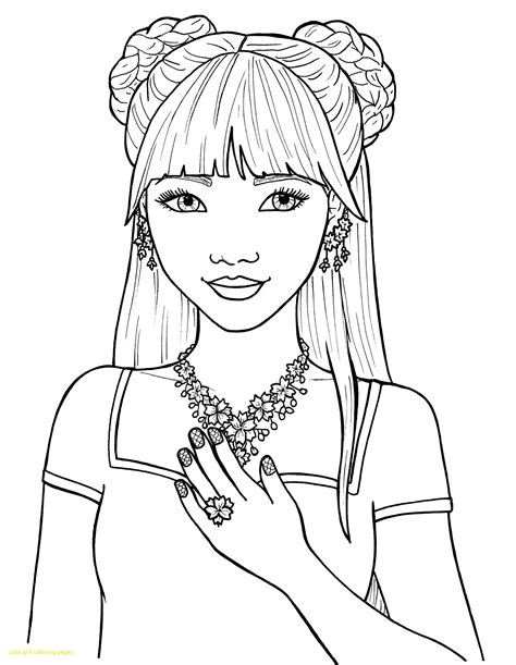 kids coloring pages printable anime fox girl coloring home cute girl coloring pages with cute girl coloring pages