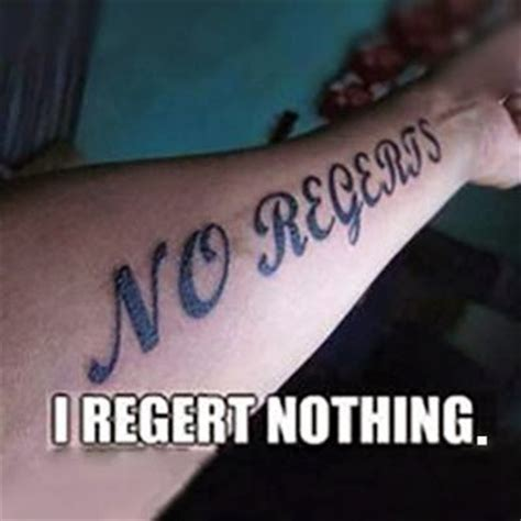 no regerts tattoo the gallery for gt no regerts