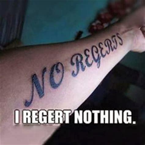 no regrets tattoo fail 45 best bad tattoos images on worst tattoos