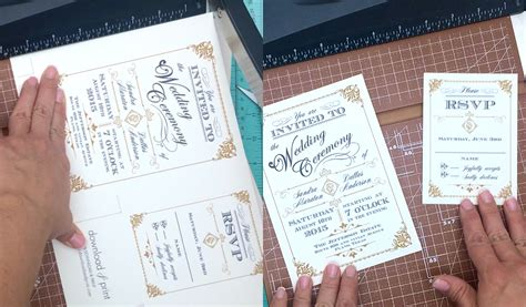 how to make wedding invitation for free free template vintage wedding invitation with deco band