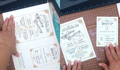 deco wedding invites diy free template vintage wedding invitation with deco band