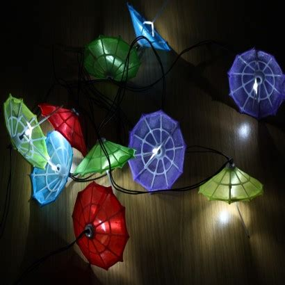 Solar Powered Umbrella Garden Lights Umbrella Light String
