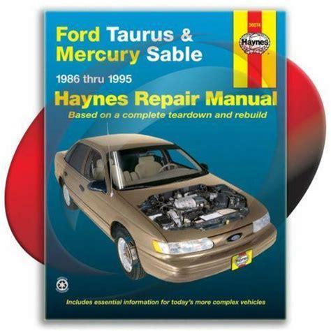 Haynes Repair Manuals Ford Taurus Ebay