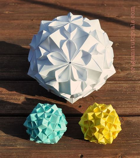 Origami Sphere Tutorial - the 25 best ideas about origami on