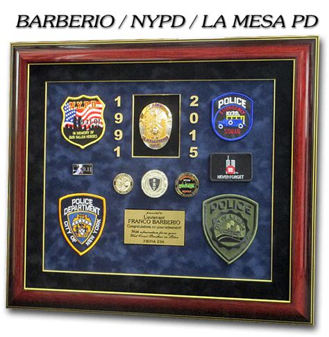 nypd pension section police misc section orange pd section recognition plaques
