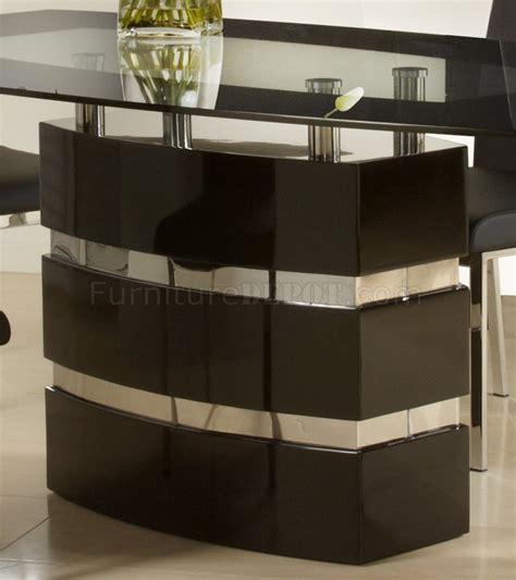 black finish modern dining table w optional side chairs black high gloss finish modern dining table w optional chairs