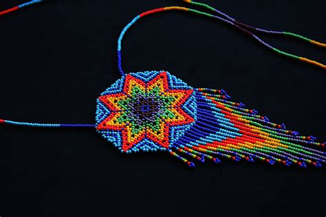 beaded sun beaded sun necklace starburst necklace seed bead