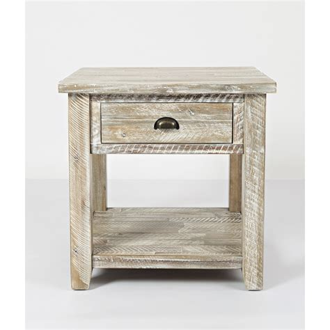 Seaside Washed Grey End Table Bernie Phyl S Furniture