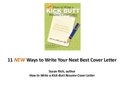 11 new ways to write your next best cover letter