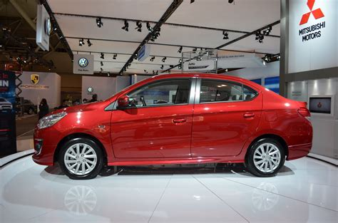 mitsubishi sedan mitsubishi mirage sedan displayed proudly in toronto the