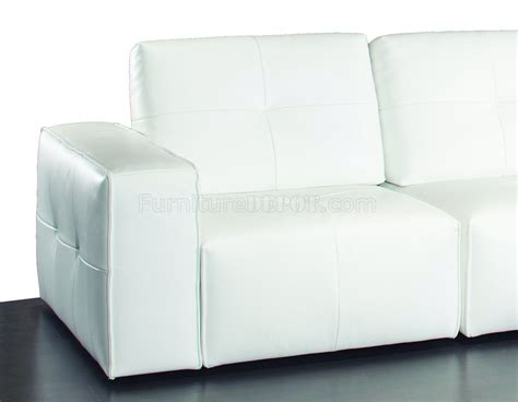 white leather modular sofa ibiza modular sectional sofa in white premium leather by j m