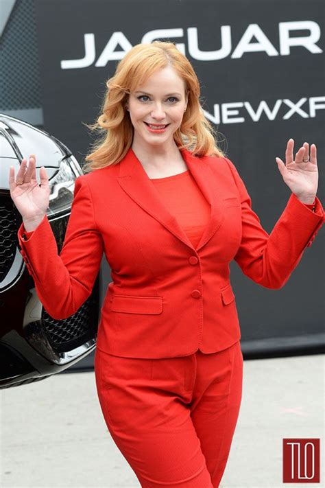 reviews on weaveologist fashion hendricks christina hendricks at jaguar event tom lorenzo