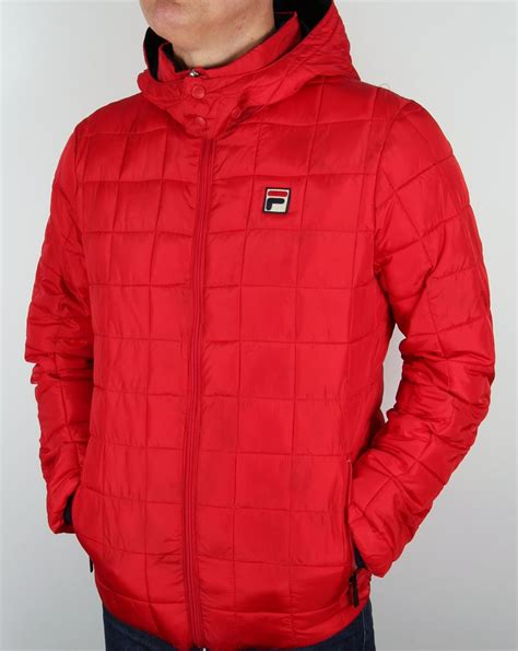 Quilted Hooded Jacket by Fila Vintage Passo Quilted Jacket Coat Padded Hooded Mens