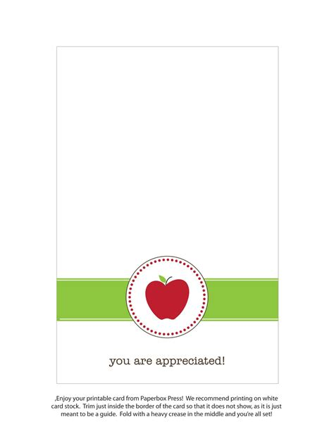 i appreciate you card template paperbox press free printable
