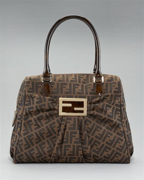 And Fendi Zucca For American Eagle by Fendi Zucca Print Bag In Brown Lyst