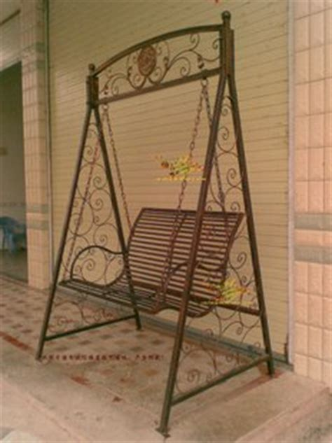 wrought iron swing chair outdoor furniture iron swing frame rocking chair hanging