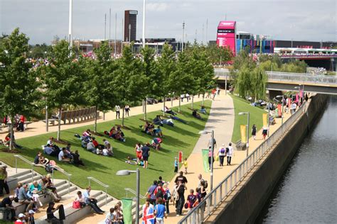london 2012 olympic games bunting along the river thames london 2012 landscape engineering the olympic park arup