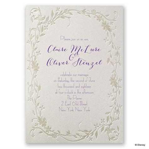 Wedding Invitations Disney by Disney Flowing Vines Invitation Rapunzel Invitations By