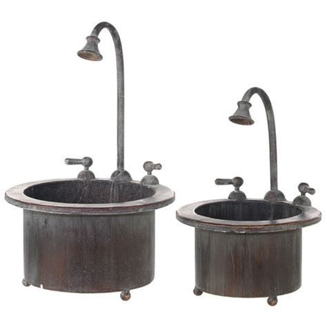 Fashioned Water Faucet by New Raz Fashioned Faucet Trough Porch Patio Planter Ebay