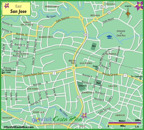 san jose costa rica neighborhoods map san jose east costa rica city guide go visit costa rica