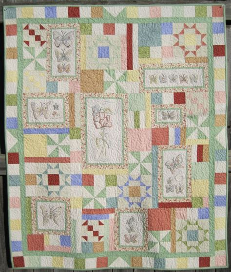 Embroidery Quilt Patterns by Embroidery Quilt Patterns To Make Beautiful Gifts And