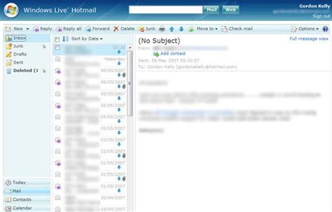 windows live hotmail review windows live content from supersite windows live hotmail is go