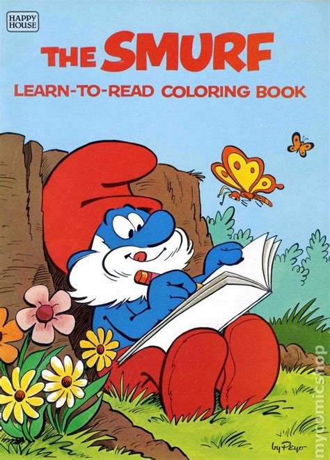 barrington learns to read books smurf learn to read coloring book sc 1982 happy house