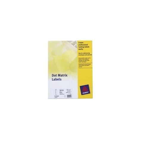 Sticker Continuous Uk 90x36mm Printer Dot Matrix oml103 avery dot matrix labels one wide on web 102x49mm 750 labels ebay