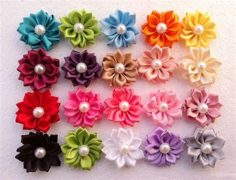 Top 7 Flower Accessories by Sale Baby Hair Flowers Accessories Satin Ribbon
