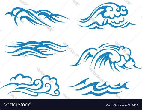 sea wave logos vector free stock vector sea and waves vector by seamartini image 813453