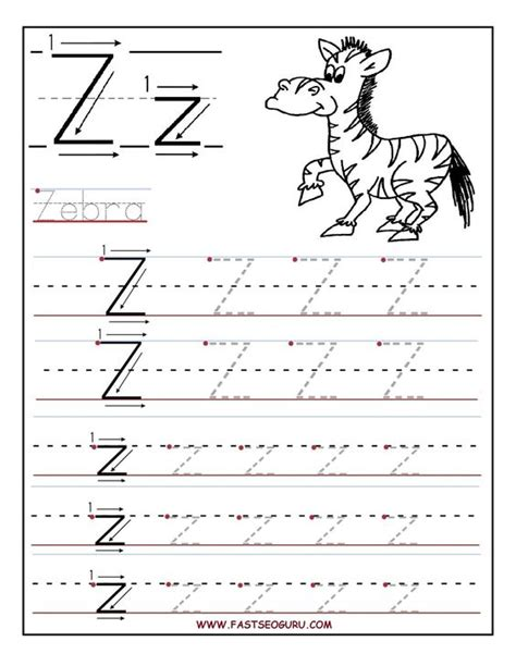 free printable traceable fonts printable letter z tracing worksheets for preschool kids