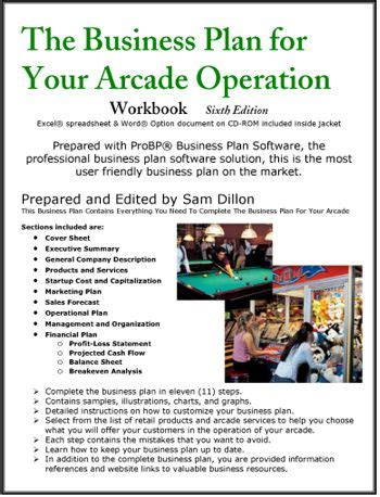 The Business Plan For Your Arcade Operation Business Plans Pinterest Business Planning Arcade Business Plan Template