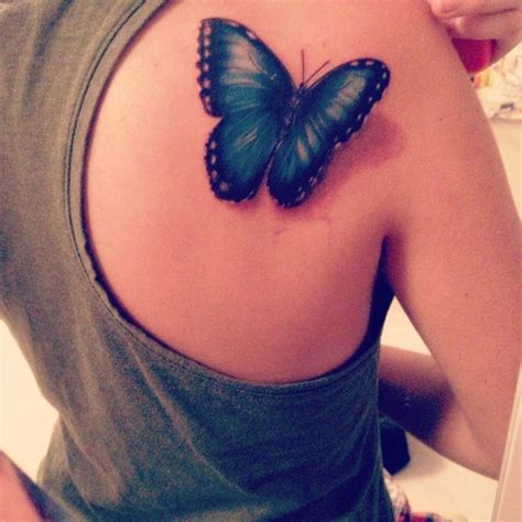 blue butterfly tattoo blue morpho butterfly tattoos