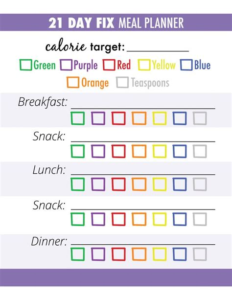 printable meal planner 21 day fix 17 best ideas about meal tracker on pinterest notebook