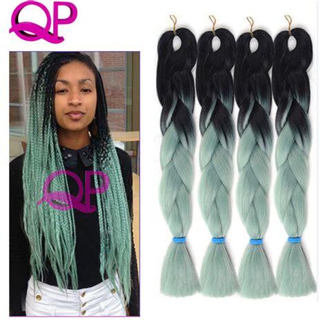 buy blue kanekolin hair aliexpress com buy light green braiding hair 100g pc box
