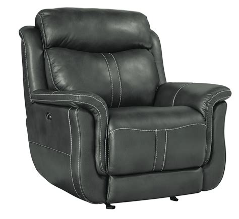 Best Deals On Leather Recliners Ashton Contemporary Gray Faux Leather Power Glider