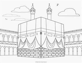 Religious Mosque Kabah Coloring Pages  sketch template