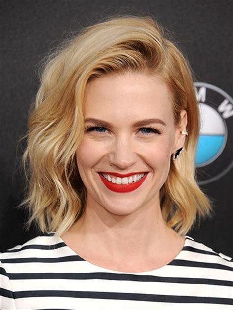7 easy ways to style midlength hair lob heavy bangs and bangs 71 best january jones images on pinterest january jones